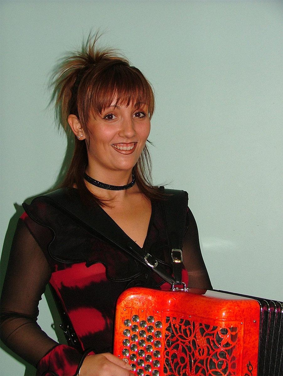 Stéphanie Rodriguez et son accordéon