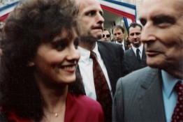 Stéphanie Rodriguez avec François Mitterand