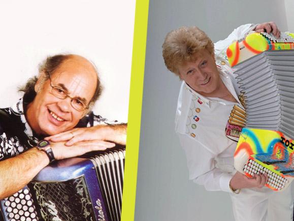 michel pruvot et gilou l'accordéoniste au festival d'accordéon de meyzieu