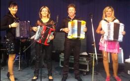 Valérie Neyret, Carole Montmayeur, Jean Robert Chappelet, et Stéphanie Rodriguez pendant un voyage en Italie en 2014
