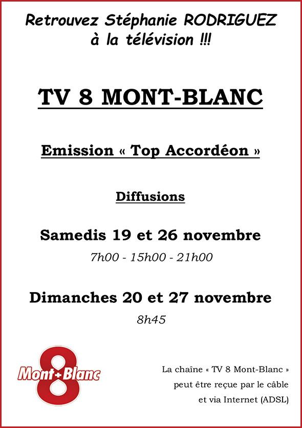 Stéphanie Rodriguez sur TV8 Mont-Blanc