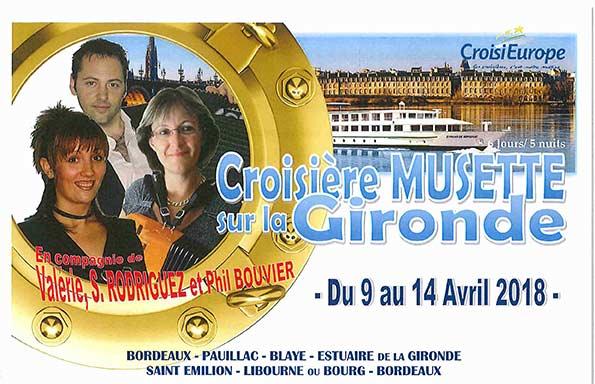 Croisière musette sur la Gironde