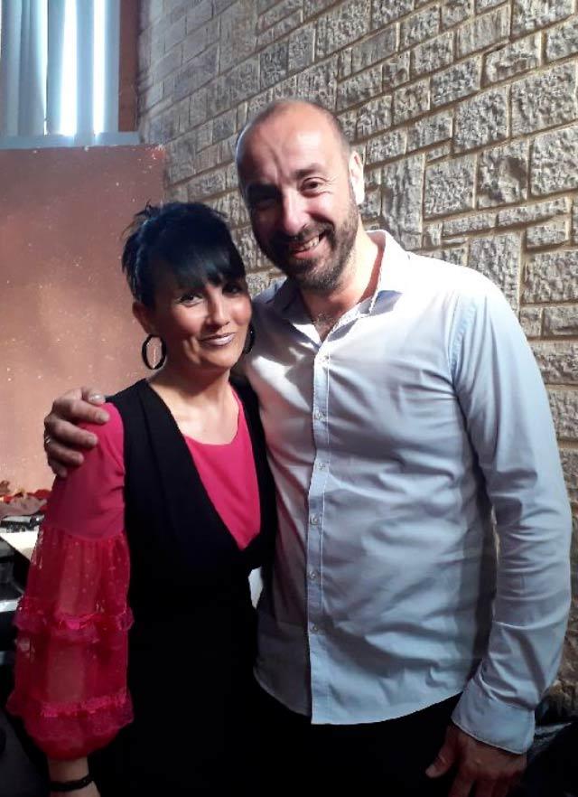 Stéphanie Rodriguez et Jérôme Baudoui (accordéoniste de Patrick Sébastien)